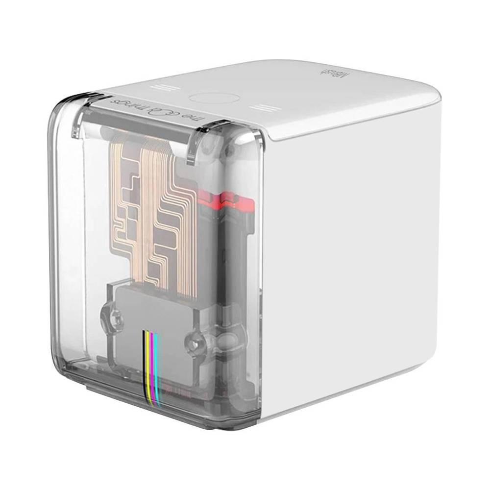 Stampante portatile a colori MBrush Supporto stampante portatile portatile Connessione WIFI USB 6 ore di orario di lavoro Stampa su qualsiasi materiale - Bianco