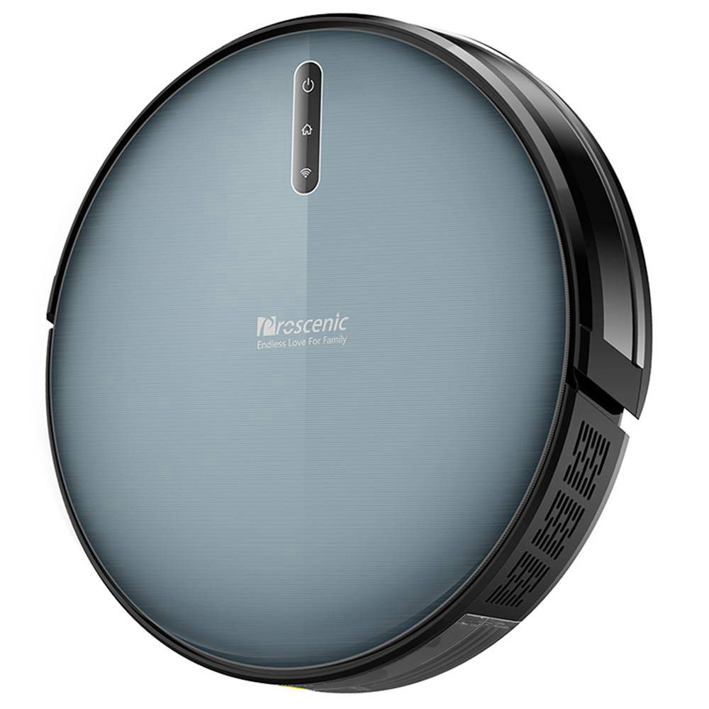 Proscenic 830P Robot Vacuum Cleaner 2000Pa Strong Suction Alexa Voice and APP Control Auto Pressure Boost with Wet Cleaning Scheduled - Black