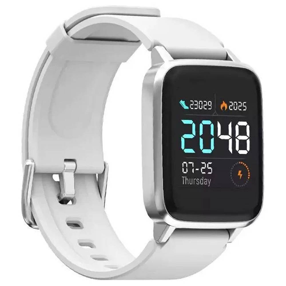 Haylou LS01 Smartwatch 1.3 Inch TFT Touch Screen IP68 Waterproof Heart Rate Sleep Monitor Global Verson - White