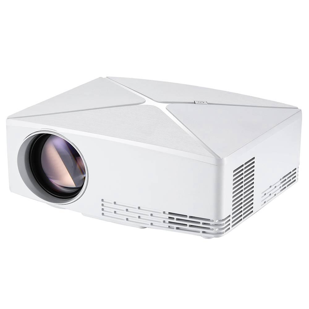 """Proiettore LED VIVIBRIGHT C80 720P 3500 lumen 150 """"Dimensione immagine 10000: 1 Rapporto di contrasto HDMI - Bianco"""