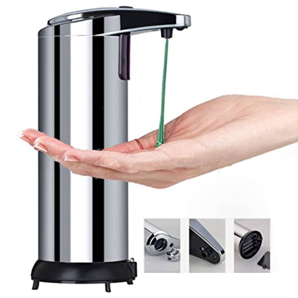 250ML Stainless Automatic Infrared Sensor Hand Sanitizer Soap Dispenser - Silver
