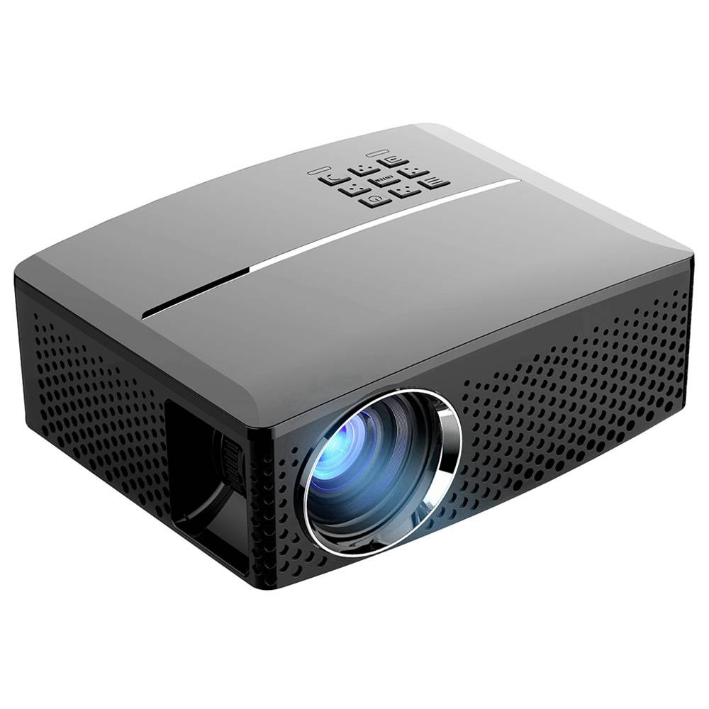 """Proiettore LED VIVIBRIGHT GP80 720P 3000 Lumens 120 """"Dimensione immagine 10000: 1 Altoparlante stereo con rapporto di contrasto HDMI - Nero"""
