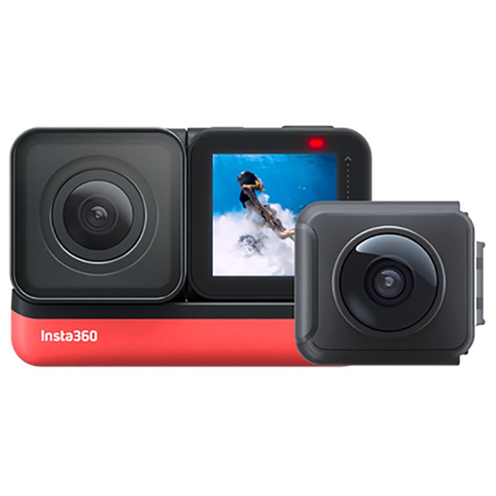 กล้อง Insta360 ONE R Sport 5.7K 360 องศาพาโนรามา IPX8 สถิติ GPS แบบกันน้ำเปิดใช้งานผ่านกล้อง - รุ่นคู่