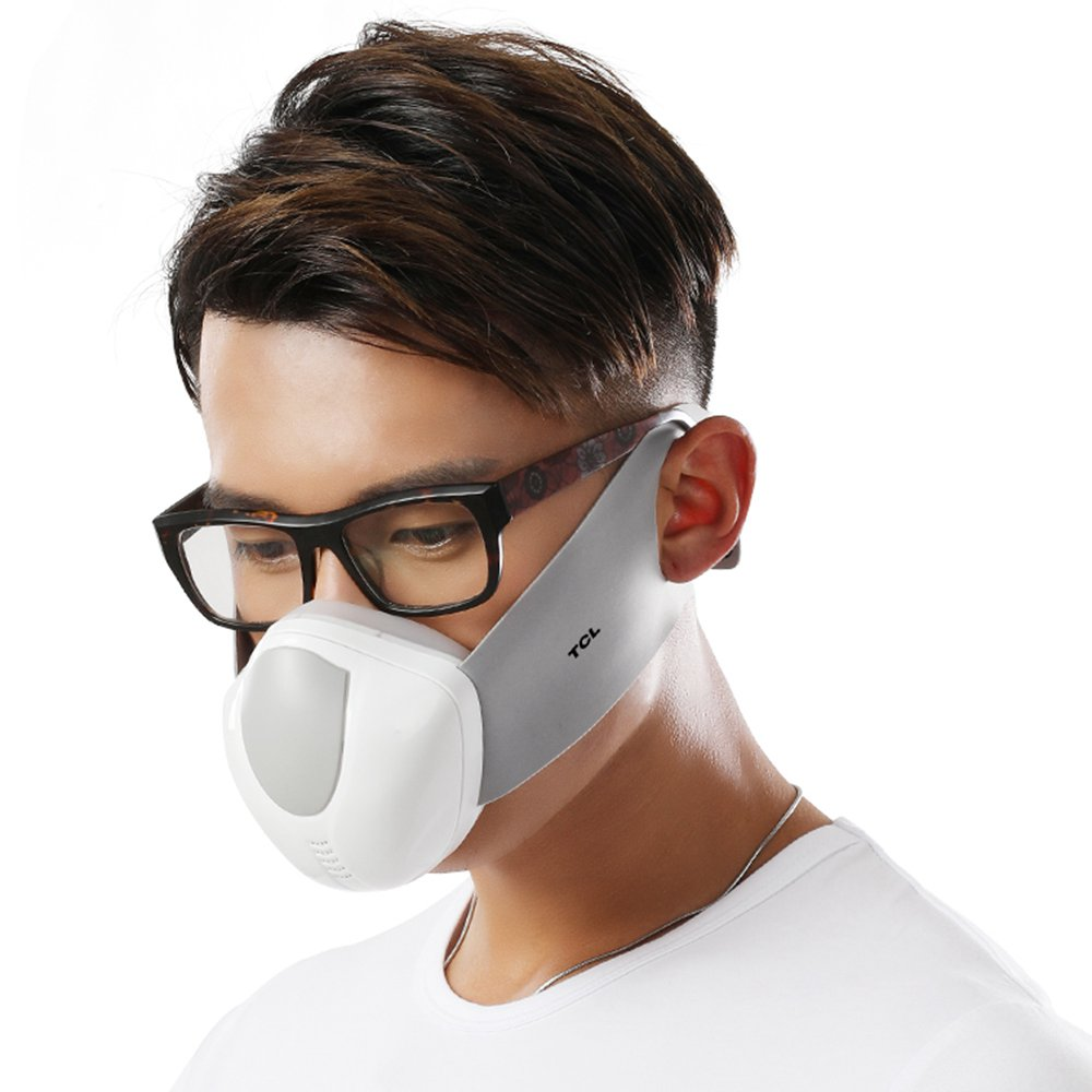 Купить со скидкой TCL Male Reusable Electric Respirator Face Mask 4 Layers Filter Automatic Air-Purifying Supply with