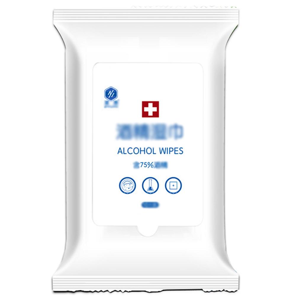 10pcs / πακέτο 75% Καθαρισμός μαρκαδόρων με μαντηλάκια απολύμανσης αλκοόλ για καθαρισμό και αποστείρωση στο σχολείο Home Office - 20 πακέτο