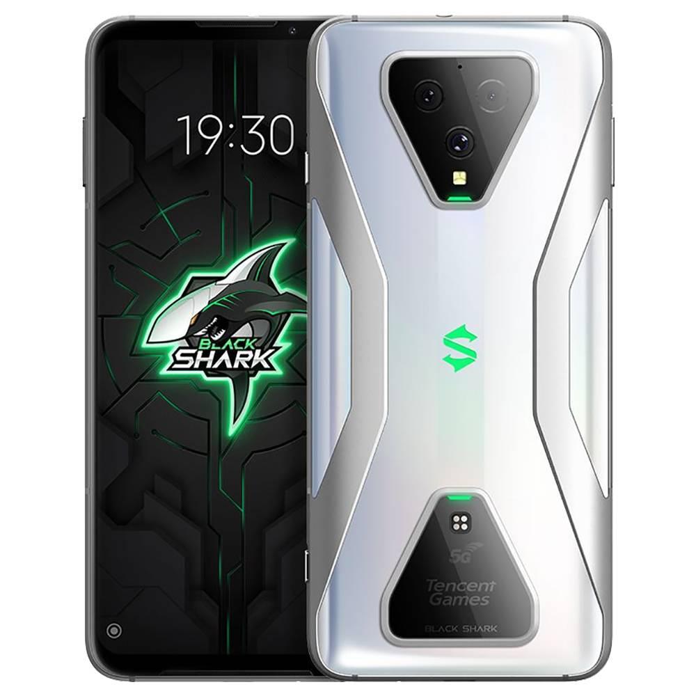 Xiaomi Black Shark 3 CN Sürüm 5G Smartphone 6.67 İnç Ekran Qualcomm Snapdragon 865 Sekiz Çekirdekli 12GB RAM 256GB ROM Üçlü Arka Kamera 4720mAh Pil Çift SIM Çift Bekleme Android 10.0 - Gümüş