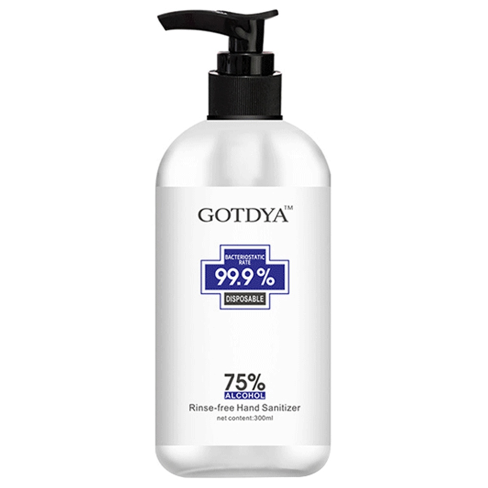 GOTDYA 300ml Wash Free Hand Alcohol Spray Gel Hand Sanitizer with 75% Alcohol Hand Soap for Daily Health Care