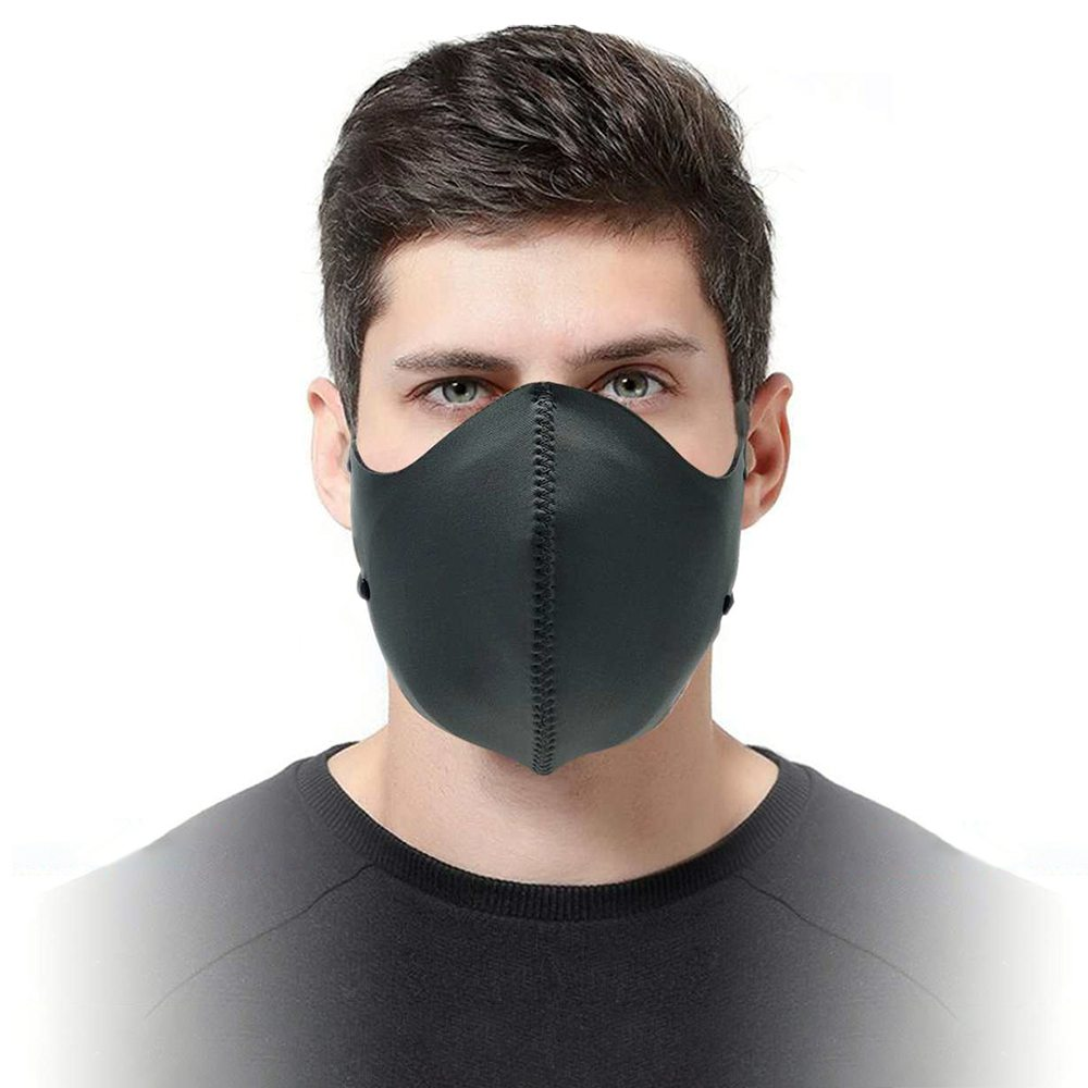 3PCS Reusable Washable FFP3 N99 Face Mask With CE Approved For PM 2.5 Anti-Smog Dust Pollution Allergy Haze - Black