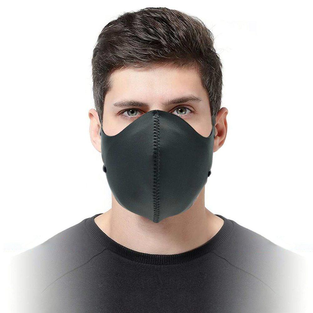 قناع الوجه القابل للغسل القابل لإعادة الاستخدام FFP3 N99 مع CE المعتمد لـ PM 2.5 ضد الضباب الدخاني ضد تلوث الغبار - أسود