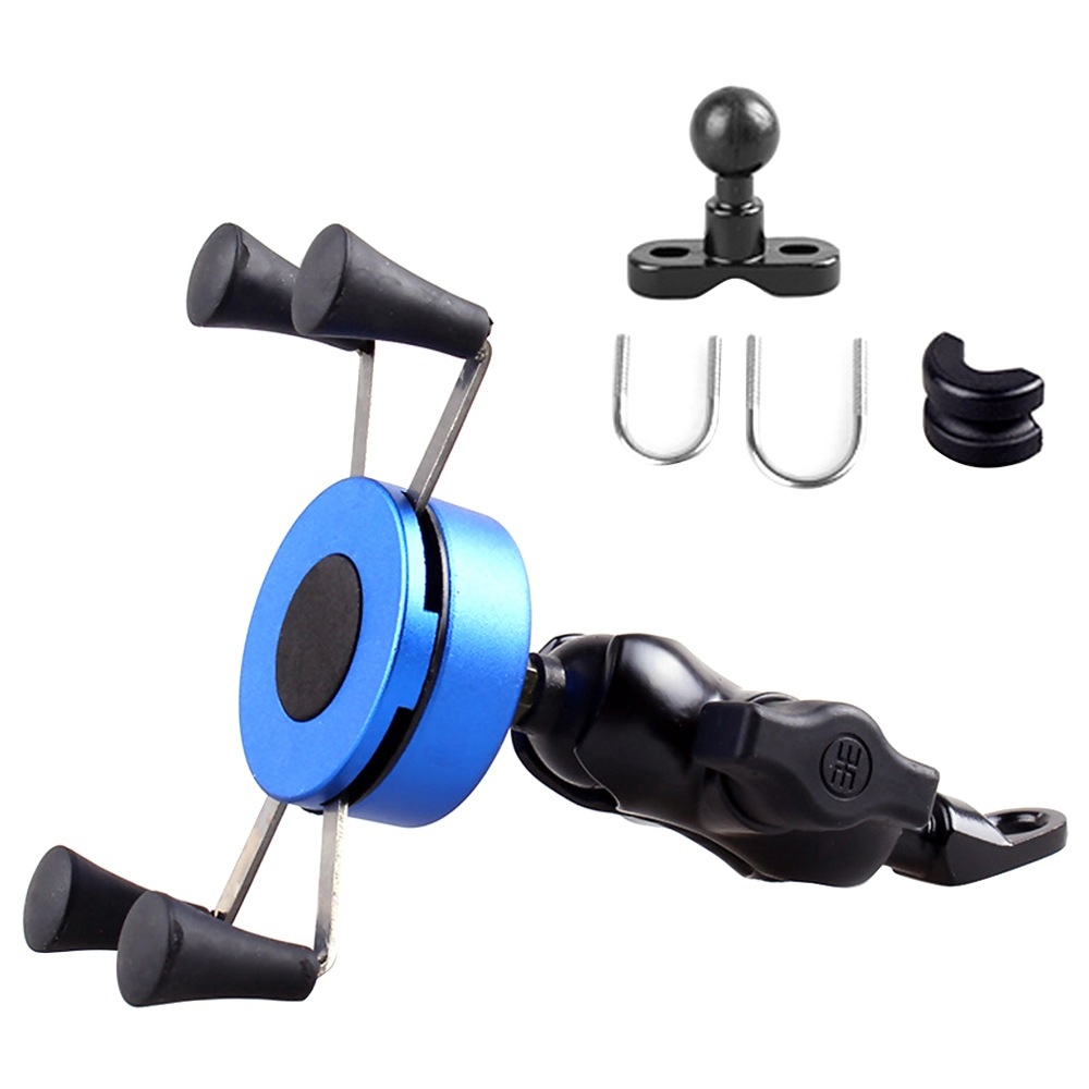 "X-type Phone Holder Fit For 4-6"" Phone GPS Fixed On E-Scooters Motorcycle Bike - Blue"