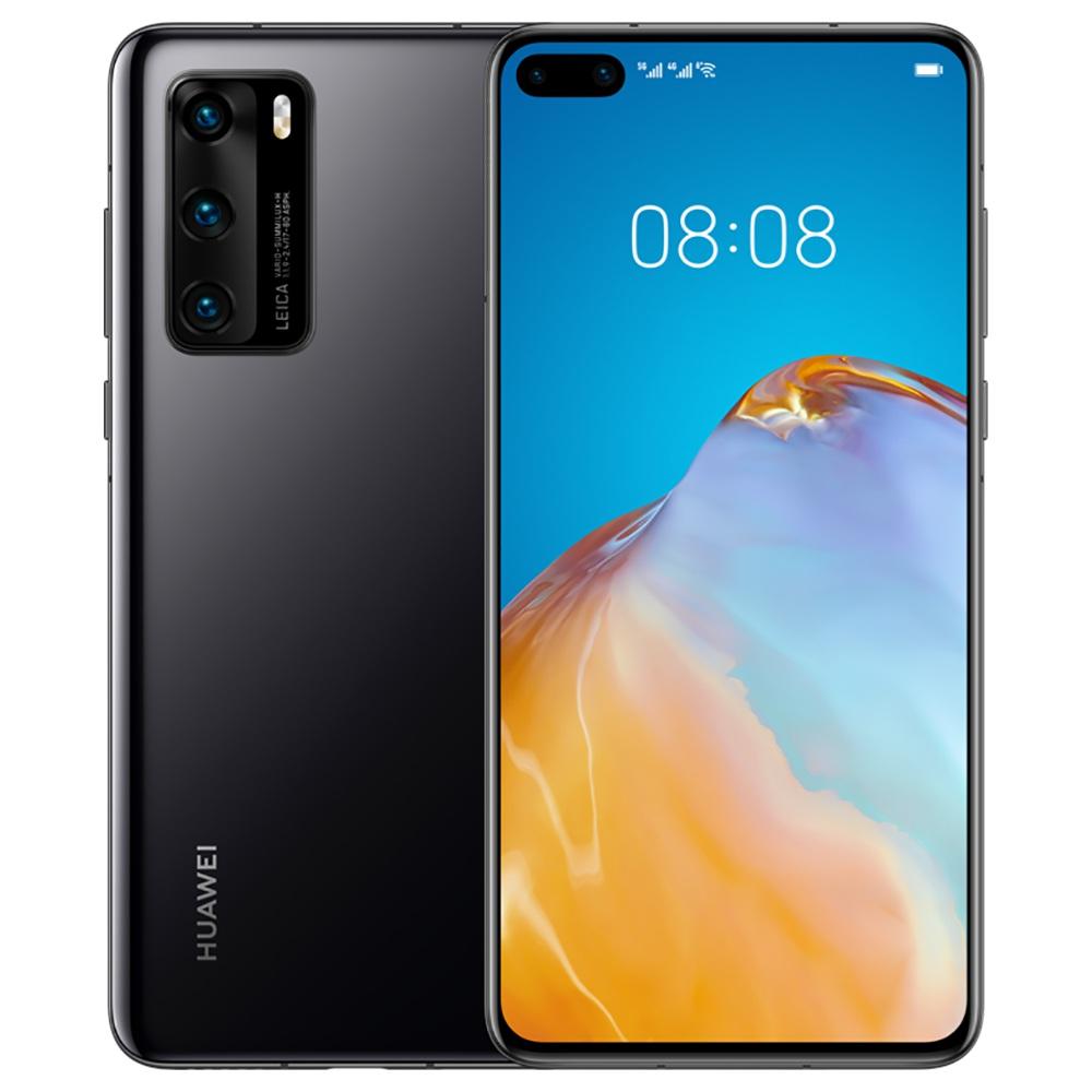 """HUAWEI P40 CN wersja 6.1 """"Smartphone 5G Kirin 990 6 GB RAM 128 GB ROM Podwójne przednie potrójne tylne kamery Android 10.0 Dual SIM Podwójny tryb gotowości - czarny"""