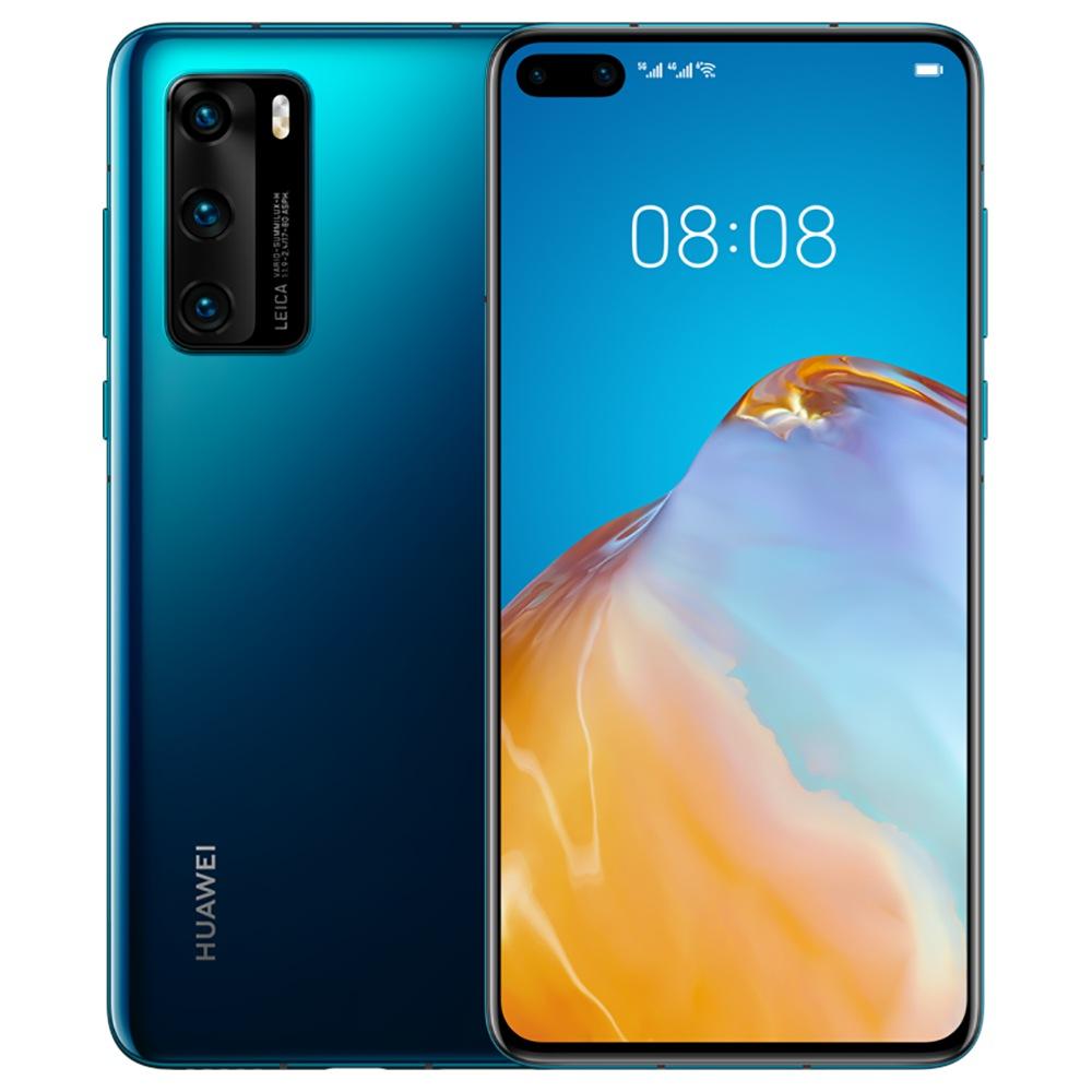 """HUAWEI P40 CN wersja 6.1 """"5G Smartphone Kirin 990 6GB RAM 128GB ROM Podwójne przednie potrójne tylne kamery Android 10.0 Dual SIM Podwójny tryb gotowości - niebieski"""