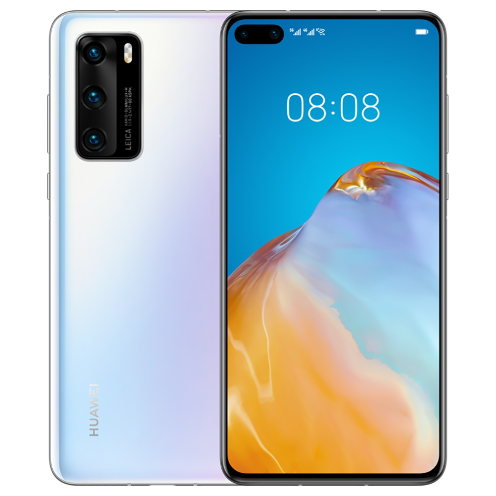 "HUAWEI P40 CN Έκδοση 6.1 ""5G Smartphone Kirin 990 8GB RAM 256GB ROM Διπλές μπροστινές τριπλές κάμερες πίσω 10.0 Dual SIM Διπλή αναμονή - λευκό"
