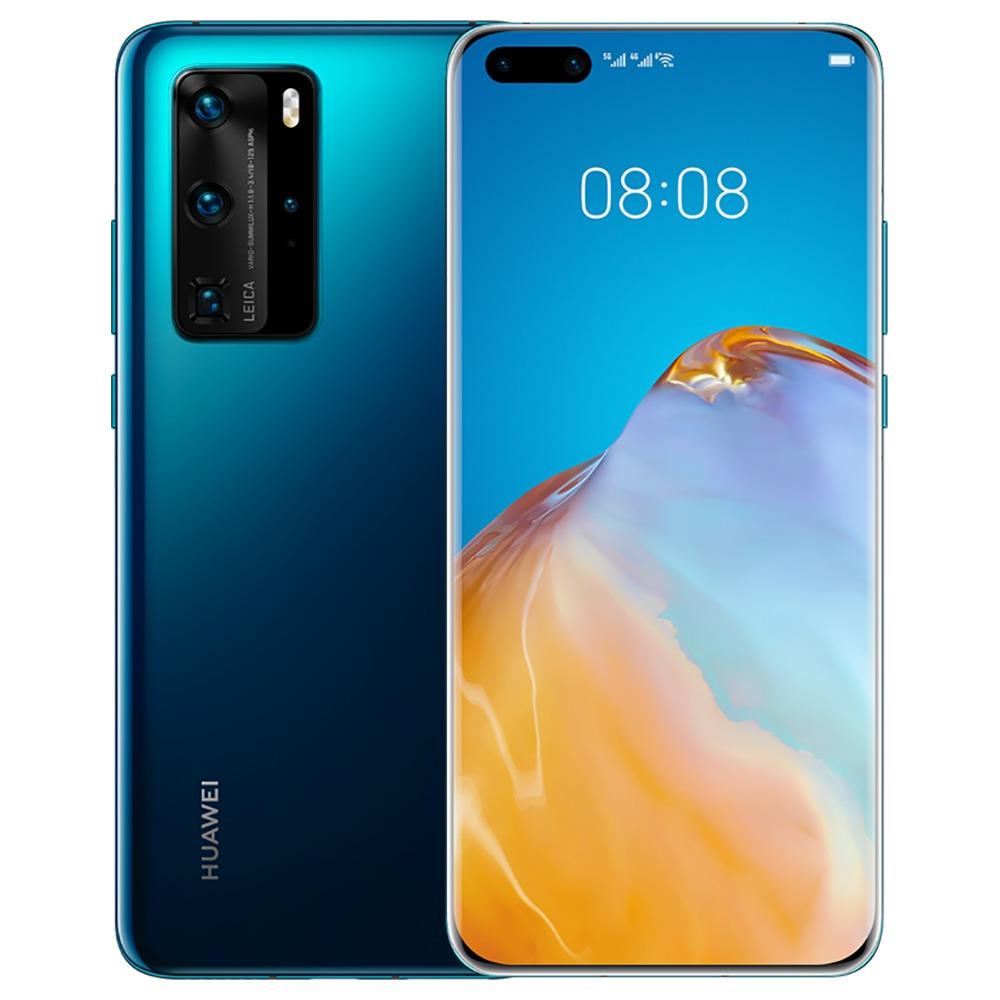 "HUAWEI P40 Pro CN-versie 6.58 ""5G Smartphone Kirin 990 8GB RAM 128GB ROM Dual Front Quad achteruitrijcamera's Android 10.0 Dual SIM Dual Standby - Blauw"