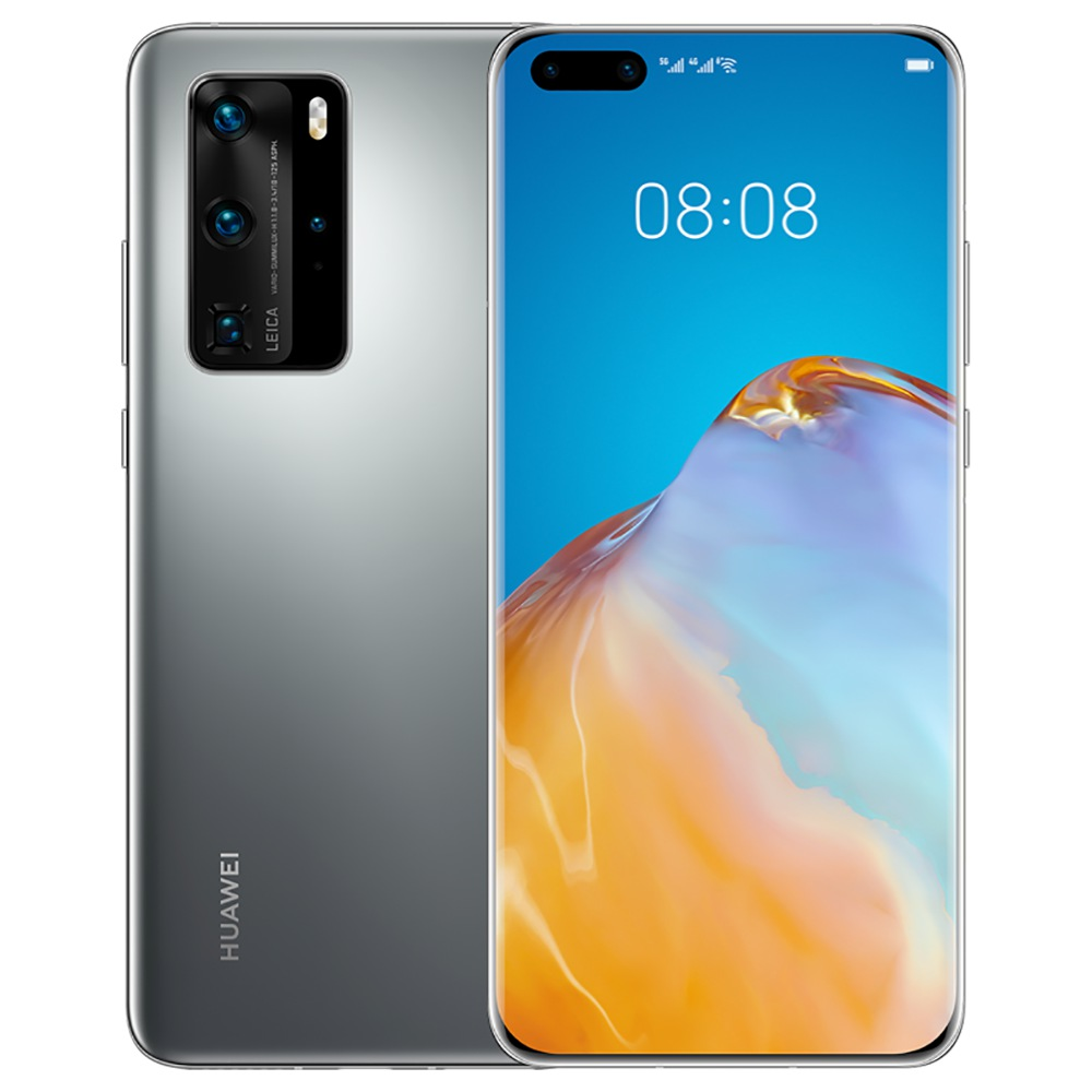 """HUAWEI P40 Pro CN Version 6.58 """"5G Smartphone Kirin 990 8GB RAM 128GB ROM Double Front Quad Caméras arrière Android 10.0 Dual SIM Dual Standby - Silver"""