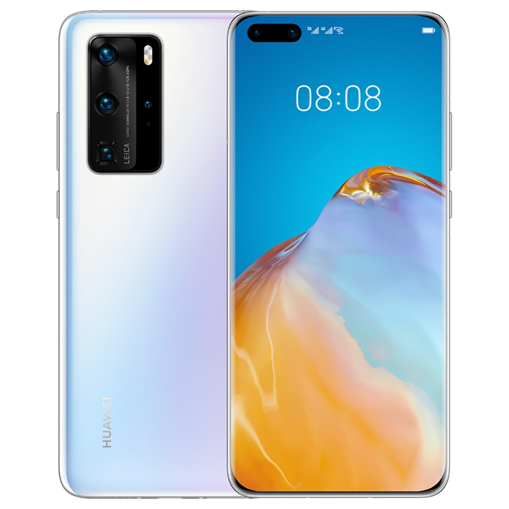 "HUAWEI P40 Pro CN-versie 6.58 ""5G Smartphone Kirin 990 8GB RAM 512GB ROM Dual Front Quad achteruitrijcamera's Android 10.0 Dual SIM Dual Standby - Wit"
