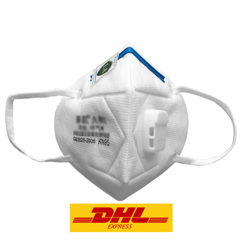 10PCS FFP2 N95 KN95 Respirator Face Mask 4-Layers Filter With Breathing  Valve for Anti Virus Particle Dust Pollution - White(DHL Express Shipping)