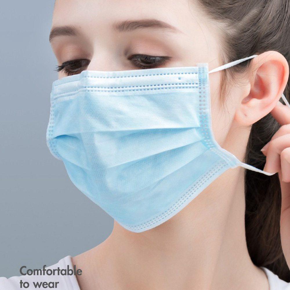 50PCS Baozhi 3 ply Medical Disposable Masks Blue
