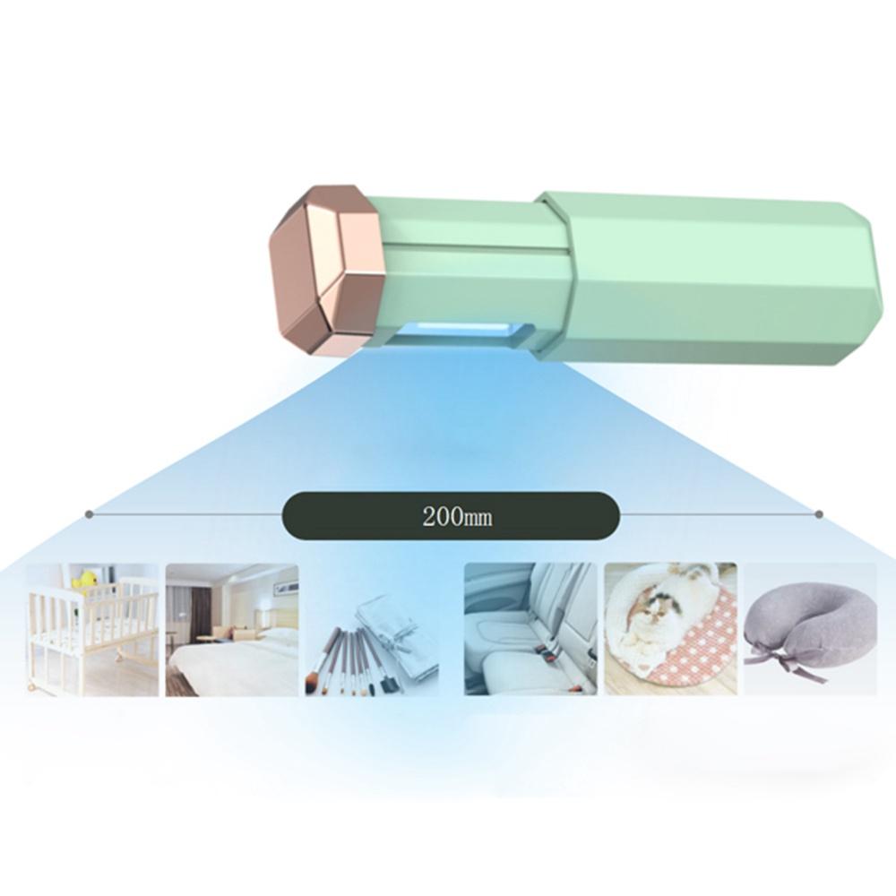 リトラクタブルポータブルUV滅菌ランプUSB充電による細菌性ウイルスの殺害ホームオフィス旅行-緑