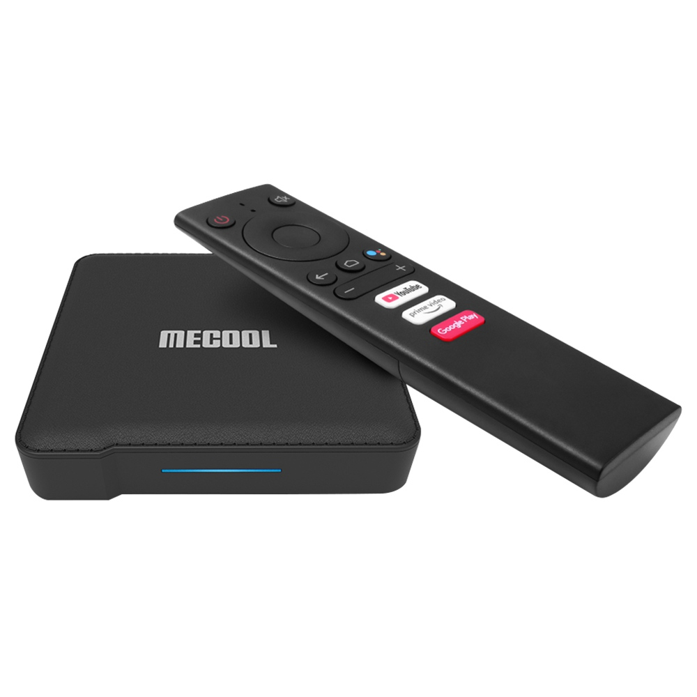 MECOOL KM1 معتمد من جوجل Amlogic S905X3 4GB / 64GB Android 9.0 TV BOX 2.4G + 5G WIFI Bluetooth USB3.0 المدمج في Chromecast On Key لبدء YouTube Prime Video Google Play Google Assistant - أسود
