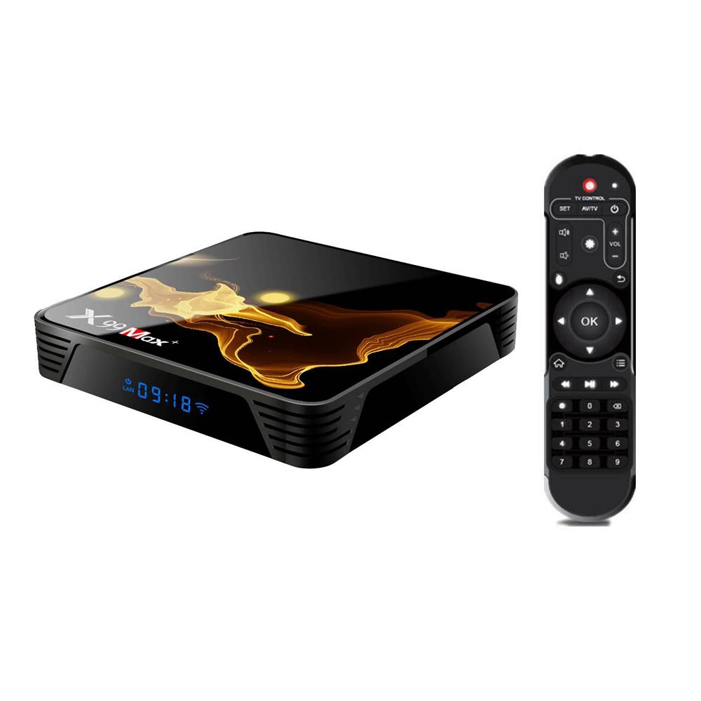 X99 MAX Plus Amlogic S905x3 4GB/128GB Android 9.0 8K Video Decode TV Box 2.4G+5.8G WiFi Bluetooth 1000Mbps LAN USB3.0