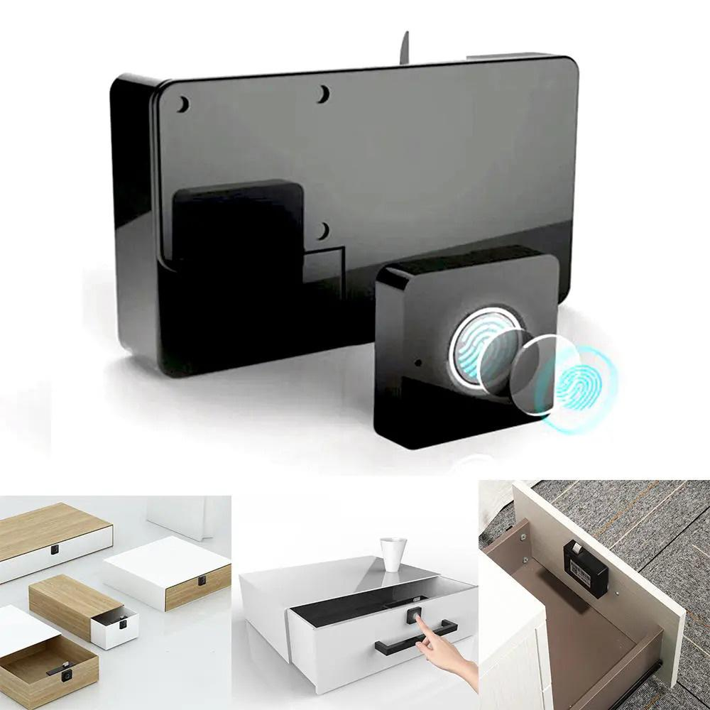 Portable Automatic Smart Fingerprint Electronic Lock Anti-theft Padlock Waterproof USB Charging Long Battery Life 360-degree Upgrade Chip 0.5s Recognition Luggage Suitcase Lock - Black фото