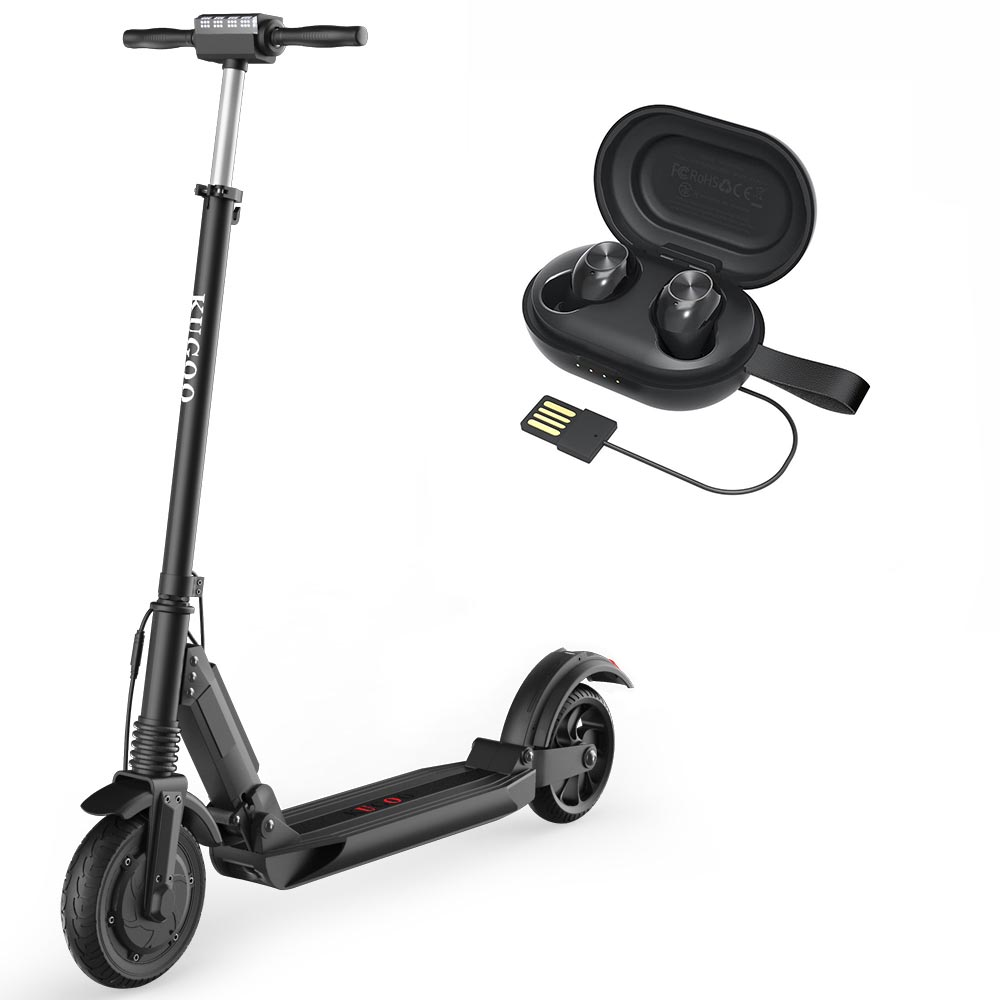 [Bundle Tronsmart Spunky Beat BT5.0 TWS Earbuds] KUGOO S1 Folding Electric Scooter Max 30km/h Black