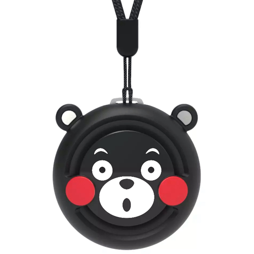 COCLEAN Kumamoto Bear φορητός μίνι ηλεκτρικό καθαριστής αέρα υψηλής απόδοσης αρνητικό ιόν αφαίρεση φορμαλδεΰδη ιούς μπαταρία 165mAh - μαύρο