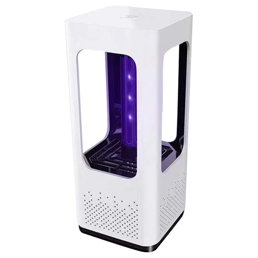 Lámpara eléctrica para matar mosquitos Portátil Silencio Pura física 365 nm LightWave Photocatalyst Lámpara para trampa de plagas de insectos para el hogar Acampar al aire libre USB Versión 199 Cuadrado - Blanco
