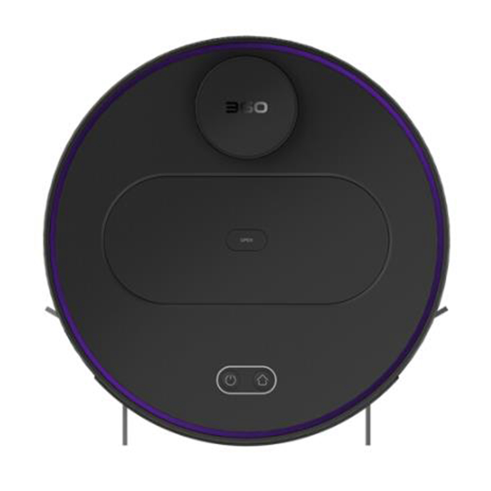360 S6 Automatic Robotic Vacuum Cleaner 1800Pa Suction LDS Path Planning 2 in 1 Sweeping Mopping - Black