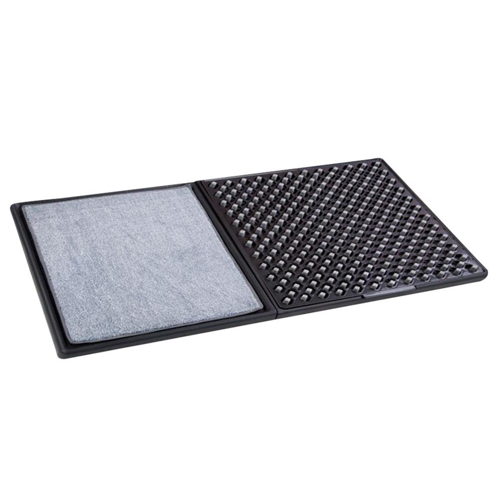 Набор ковриков для пола Lofans для дезактивации 3D Edition CS-627 Комбинированный пакет Добавить дезинфицирующее средство Стерилизация Нескользящая плотная подошва для уборки дома - черный