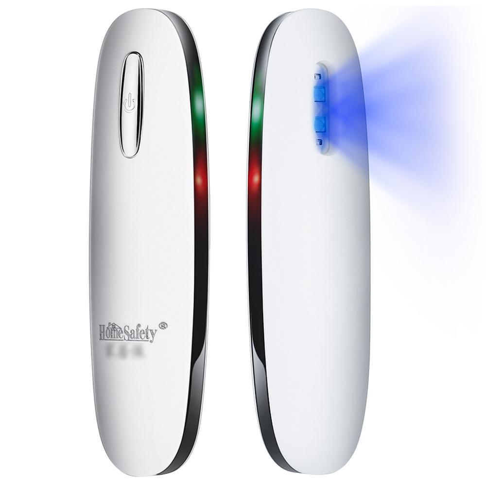Lampe de désinfection de stérilisation UV portable USB charge cuisine bureau d'hôtel de salle de bains - blanc