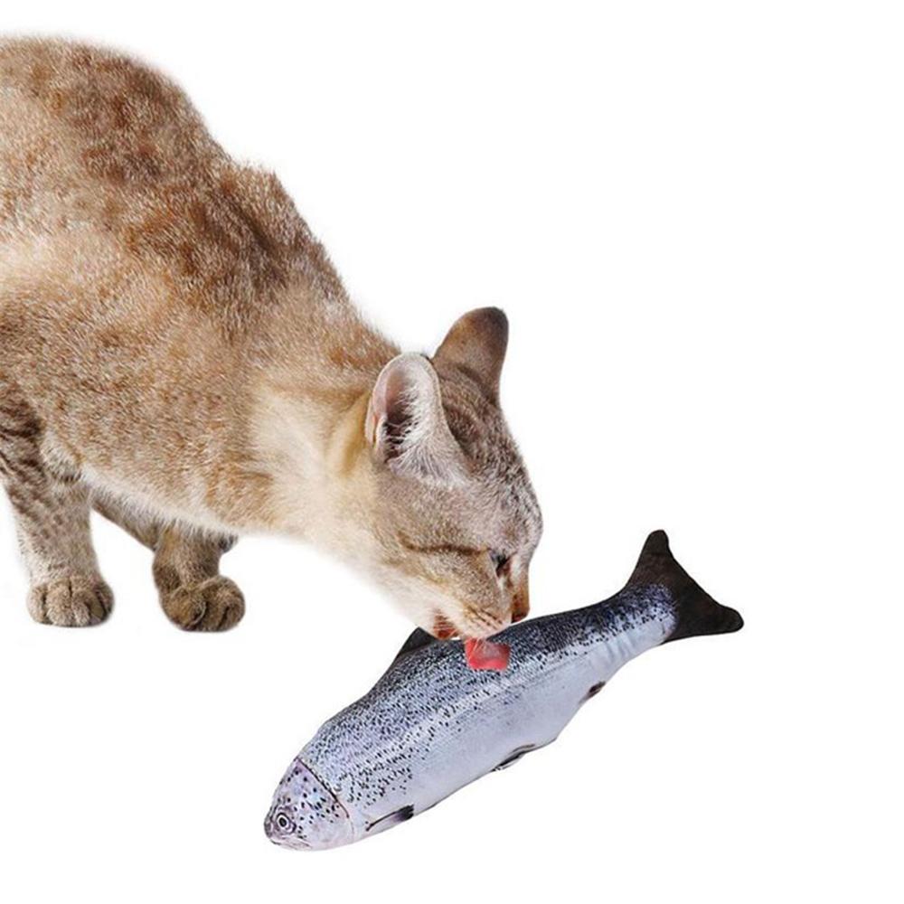 30 ซม. ไฟฟ้าจำลองปลาแมวของเล่น - ปลาแซลมอน