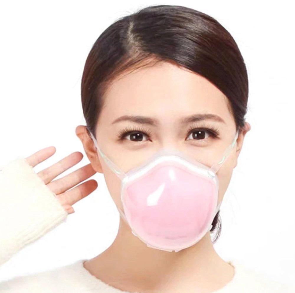 3PCS Mascarilla facial inteligente eléctrica N95 reutilizable Q7 con filtro de carbón activado, suministro automático de purificación de aire con filtros de repuesto 2PCS para alergia al polen de gases de escape anticontaminación PM2.5 - Rosa