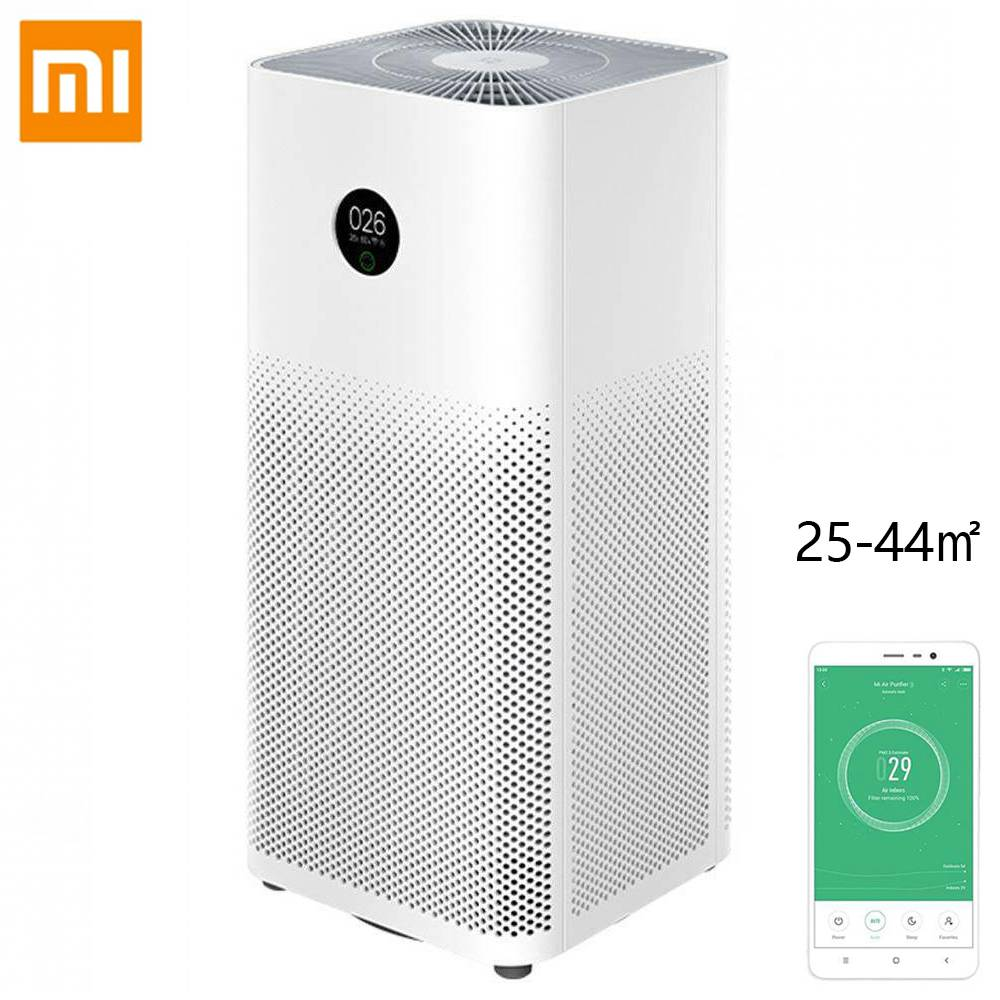 Original Xiaomi Mi Luftrenare 3H APP Kontroll Ljussensor Multifunktion Smart Air Cleaner Global version - Vit.
