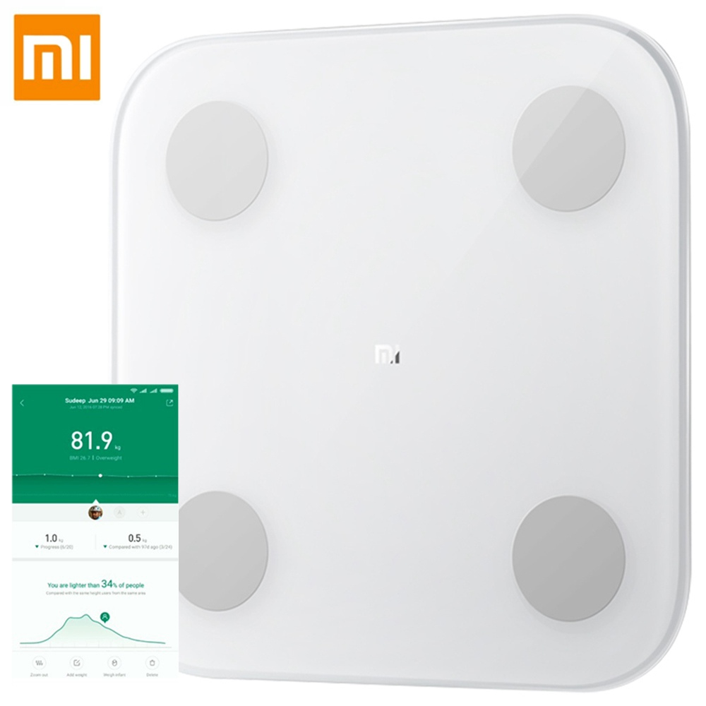 Xiaomi 2.0 Smart Bluetooth Body Fat Scale - Bianco