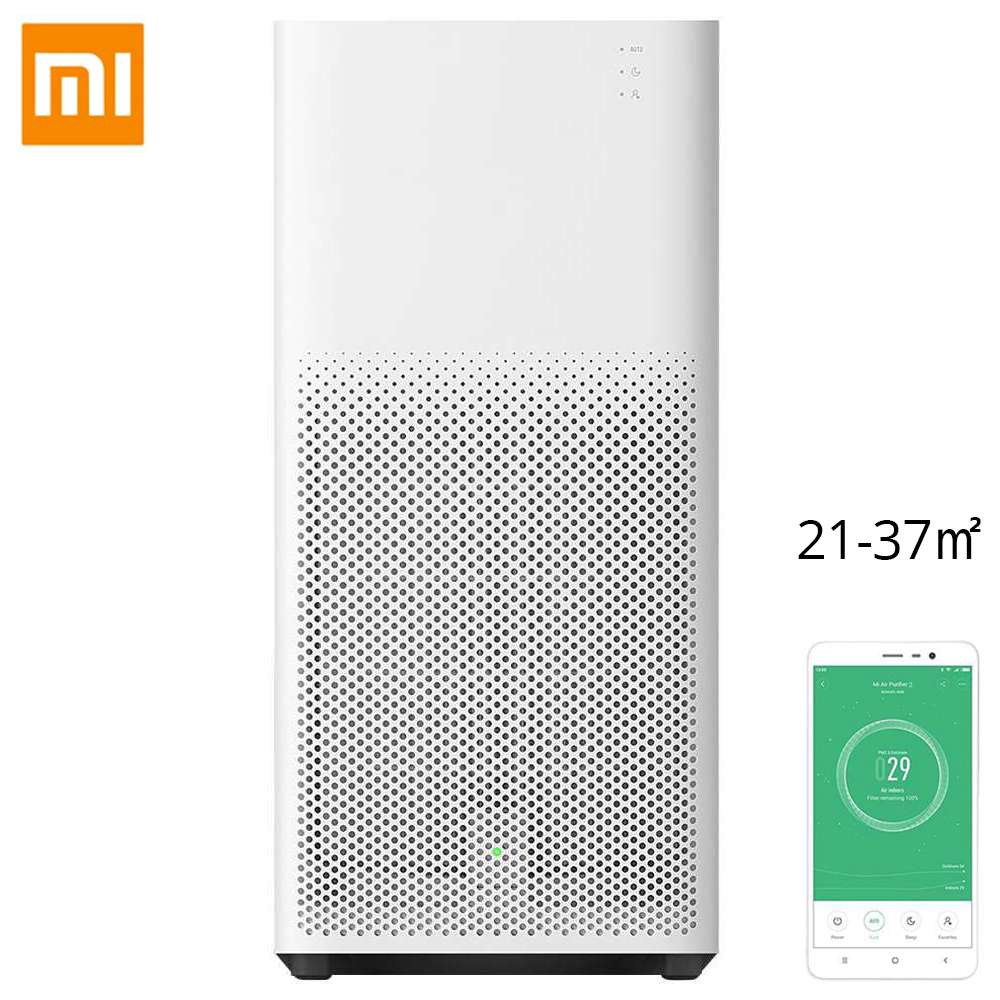 Purificateur d'air Xiaomi Mijia 2H HEPA Filtre à trois couches Suppression du formaldéhyde Surveillance AQI en temps réel Assistant Google Amazon Alexa Contrôle vocal Home Office Version internationale - Blanc