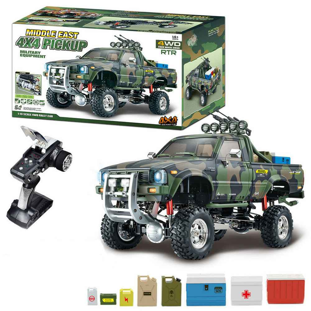 HG P417 2.4G 1/10 4X4 4WD Rock Crawler Truck RC Car without Battery Charger - Army Green