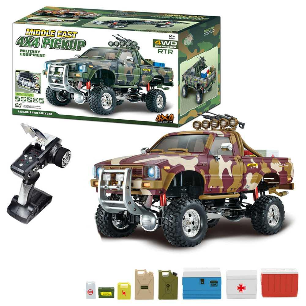 HG P417 2.4G 1/10 4X4 4WD Rock Crawler Truck RC Αυτοκίνητο χωρίς φορτιστή μπαταρίας - Yellow Desert
