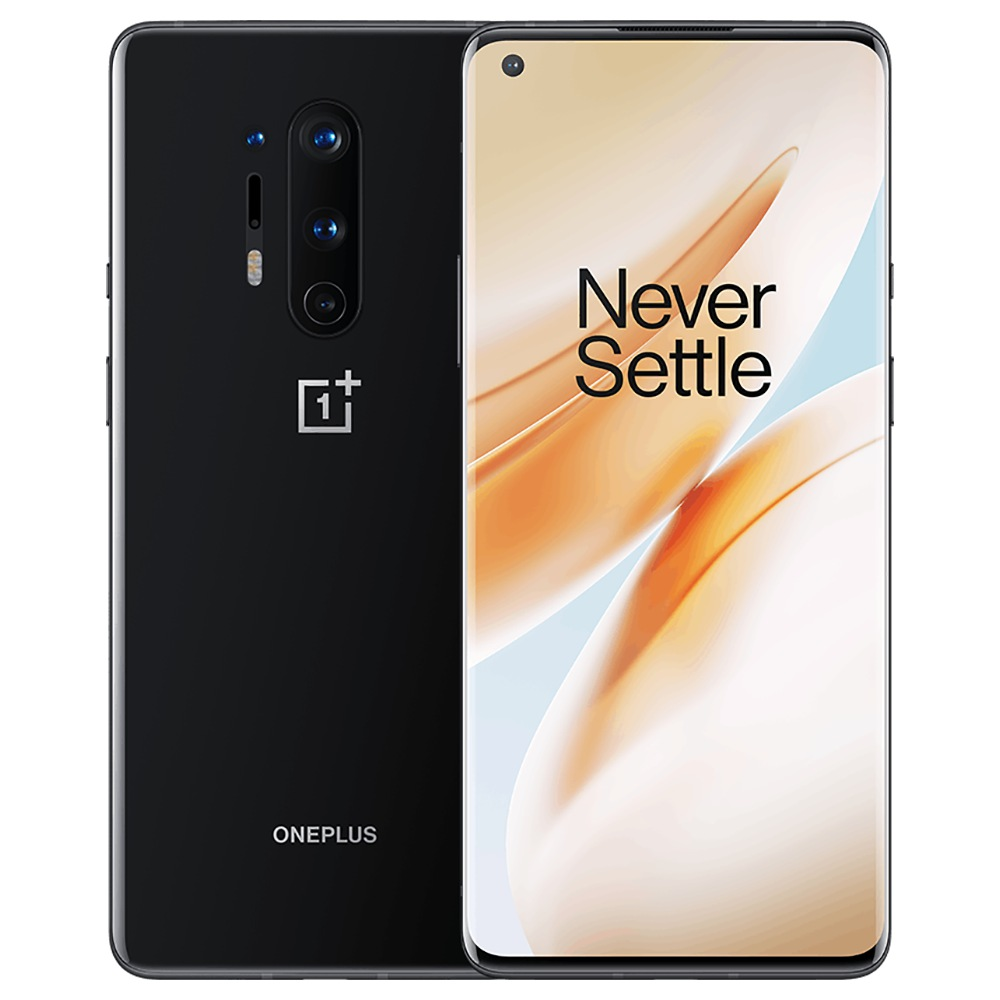 OnePlus 8 Pro شاشة 6.78 بوصة 5G الهاتف الذكي Qualcomm Snapdragon 865 Octa Core 8GB RAM 128GB ROM Android 10.0 Dual SIM Dual Standby Global ROM - Onyx Black