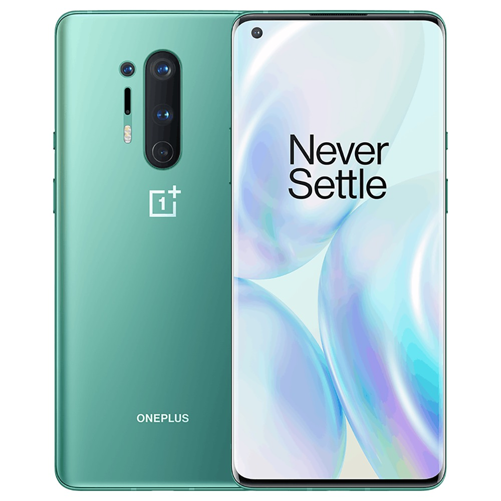 OnePlus 8 Pro 6.78 Inch Screen 5G Smartphone Qualcomm Snapdragon 865 Octa Core 12GB RAM 256GB ROM Android 10.0 Dual SIM Dual Standby Global ROM - Glacial Green