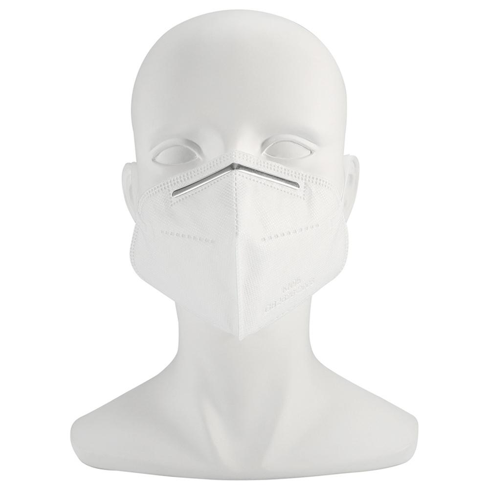 1PCS KN95 3D تنفس واقية قابلة للطي قناع واقية 4-طبقة غير المنسوجة فلتر الهواء مع شهادة CE FDA لمكافحة التلوث بالضباب الغبار الحساسية - أبيض