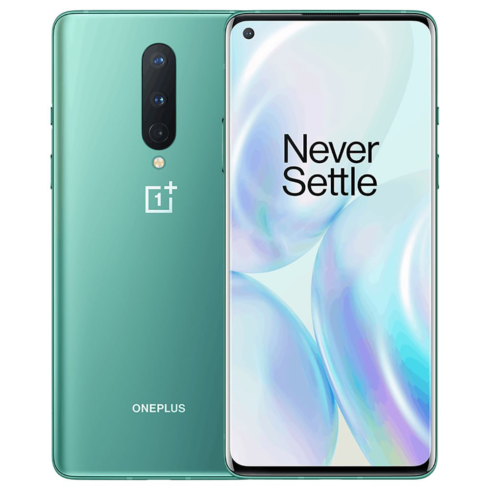 OnePlus 8 6.55インチ画面5GスマートフォンQualcomm Snapdragon 865 Octa Core 12GB RAM 256GB ROM Android 10.0 Dual SIM Dual Standby Global ROM-Glacial Green