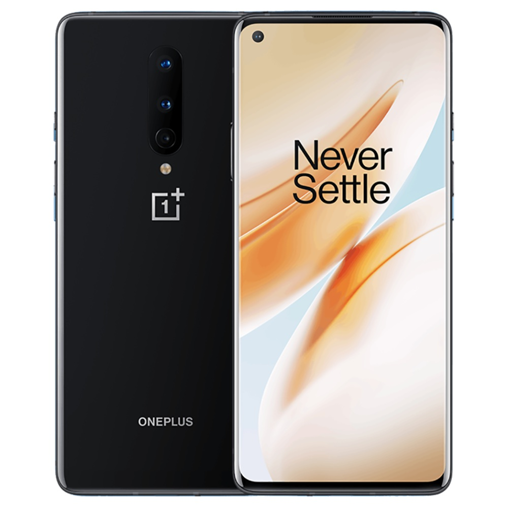 OnePlus 8 6.55 Inch Screen 5G Smartphone Qualcomm Snapdragon 865 Octa Core 12GB RAM 256GB ROM Android 10.0 Dual SIM Dual Standby Global ROM - Onyx Black