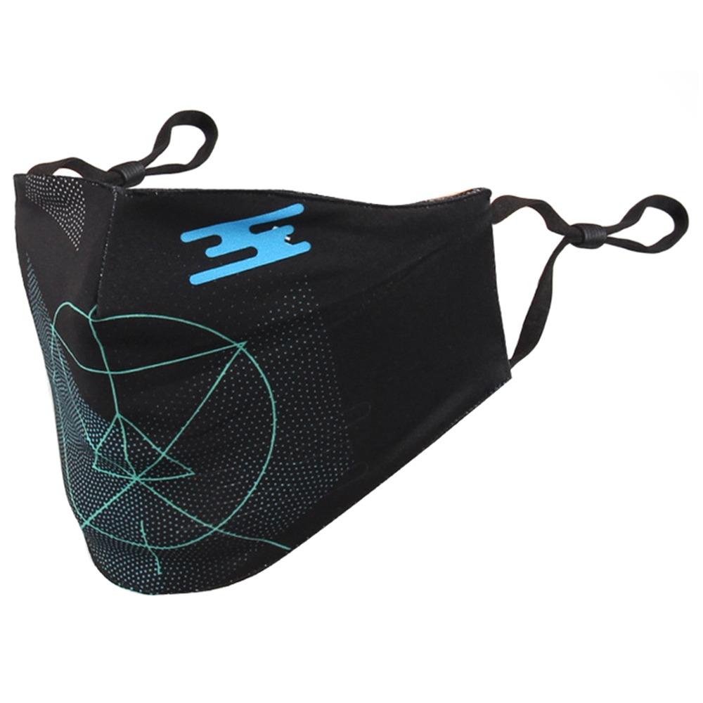 Активированный уголь пылезащитный Открытый Mountainpeak Спортивная маска Регулируемый зажим для носа для велосипеда унисекс Бег - зеленый - черный