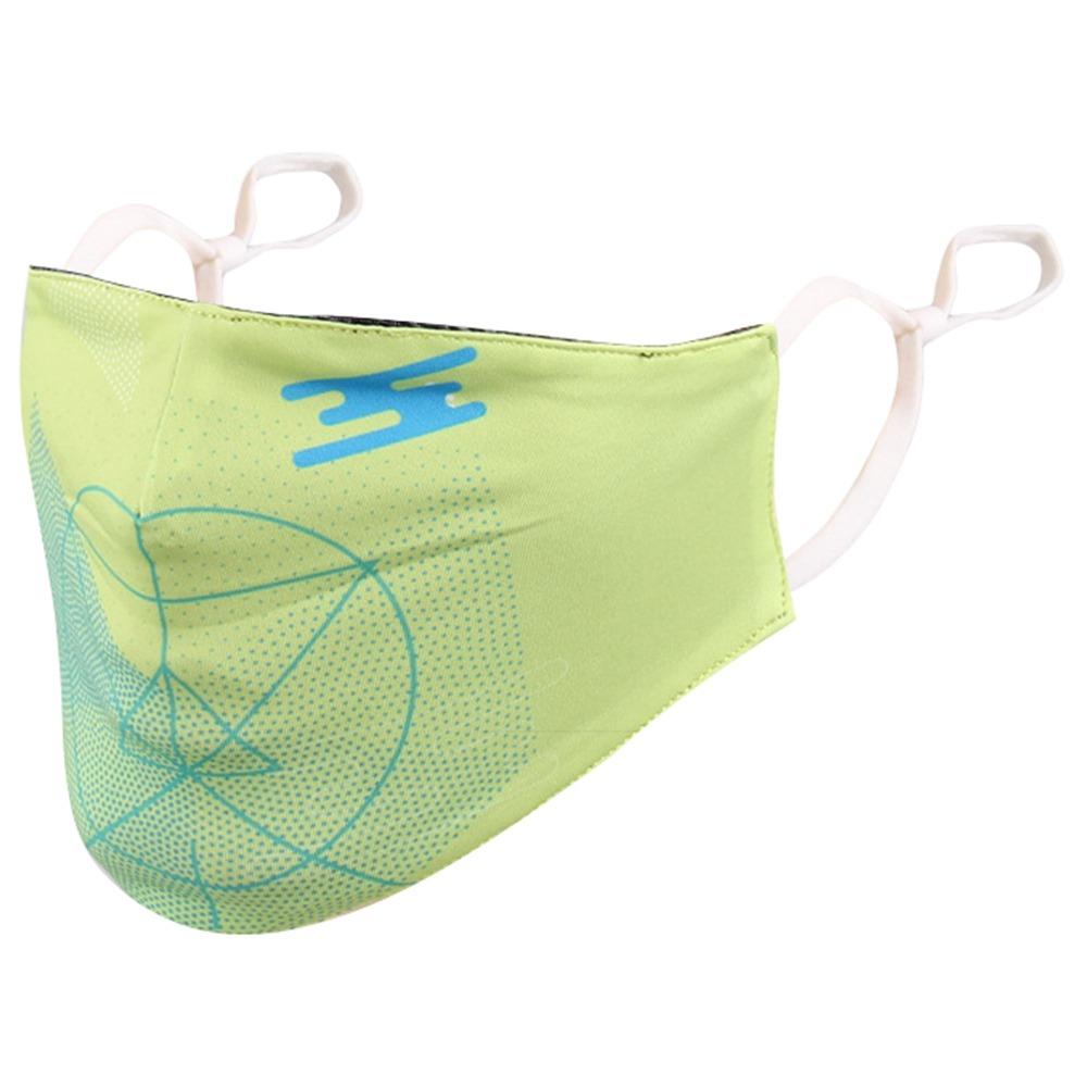 Активированный уголь пылезащитный Открытый Mountainpeak Спортивная маска Регулируемый зажим для носа для унисекс Велоспорт Бег - зеленый