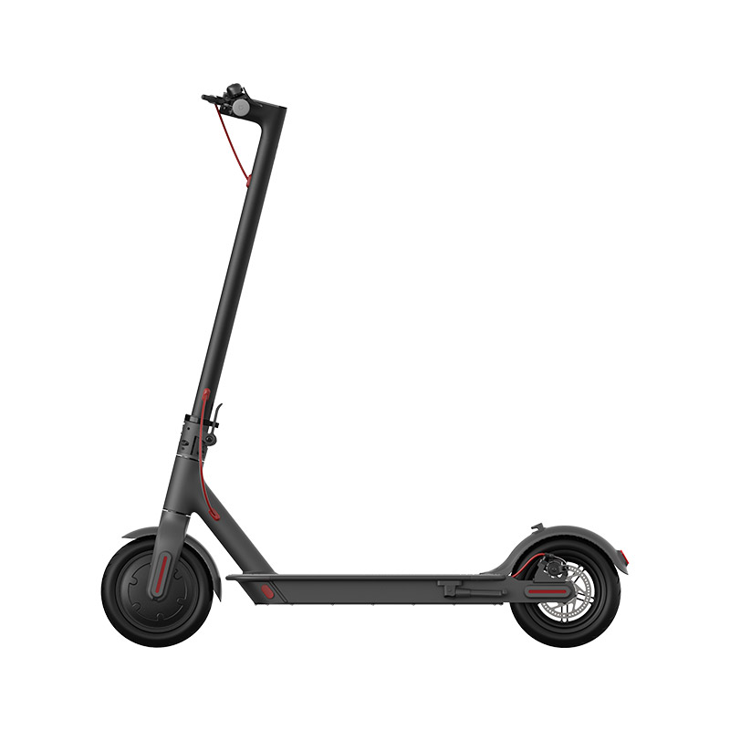 Xiaomi Mijia 1S Folding Electric Scooter 8.5 Inch Tire 250W Brushless Motor Up To 30km Range Max speed 25km/h Smart Display Dual Brake CN Version - Black