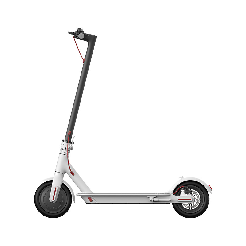 Xiaomi Mijia 1S Folding Electric Scooter 8.5 Inch Tire 250W Brushless Motor Up To 30km Range Max speed 25km/h Smart Display Dual Brake CN Version - White