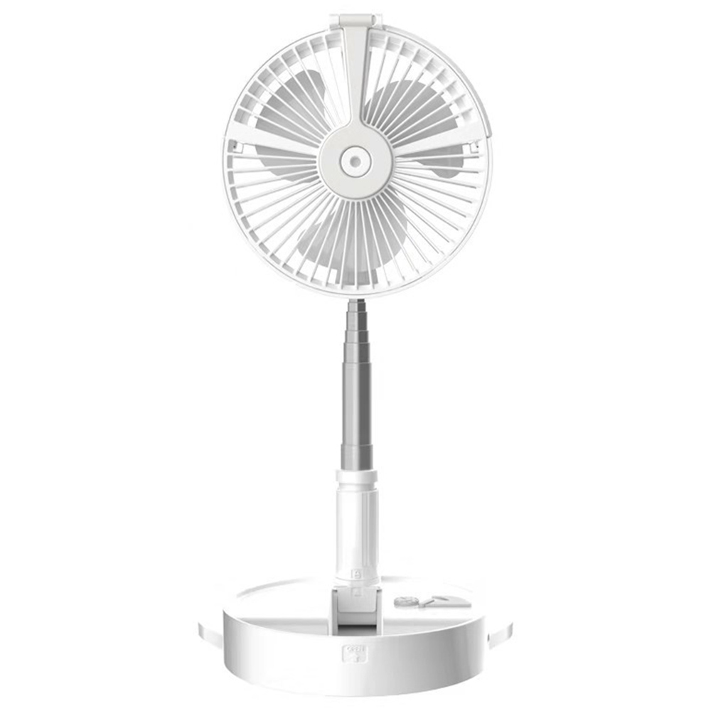 Desk and table fan, Air Circulator Fan Portable Travel Mini Fans Battery Operated or USB Powered,Adjustable Height from 14.2 inch to 3.3ft as Pedestal stand floor Fan, 4 Speed Settings-White