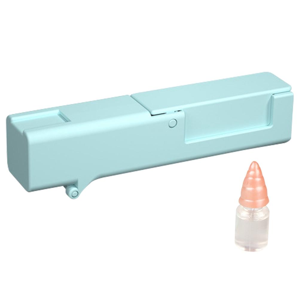 Το φορητό εργαλείο απομόνωσης ιών περιέχει απολυμαντικό Αποφύγετε να αγγίζετε την ταξιδιωτική ασφάλεια Αγγλική έκδοση - Μπλε